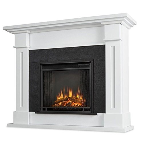 Real Flame 6030E-W 6030E Kipling Electric Fireplace, Medium, White