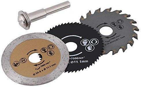 Hojas de sierra circular - Mini hoja de corte de madera HSS de 54 ...