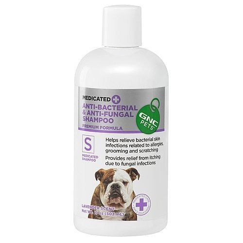 GNC Pets® Medicated Anti-Bacterial & Anti-Fungal Shampoo, 17 Ounces