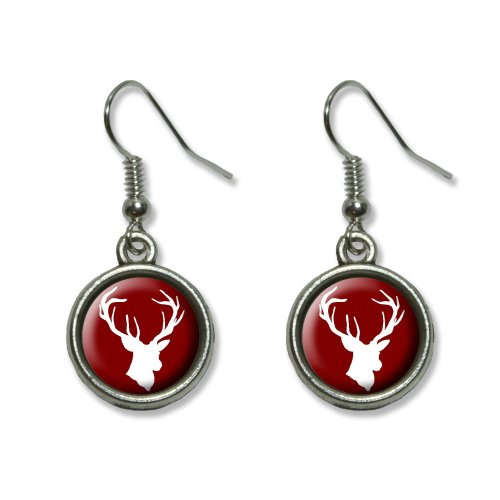 Deer Hunter - Buck Hunting Novelty Dangling Dangle Drop Charm Earrings (Hunter And Deer Costume)