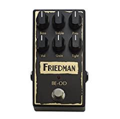 Built in the USA, the must have BE-OD overdrive pedal is desired by enthusiasts worldwide. The BE-OD overdrive pedal captures the tone of the now legendary Friedman BE-100 amplifier which has graced the stages of world class musicians the wor...