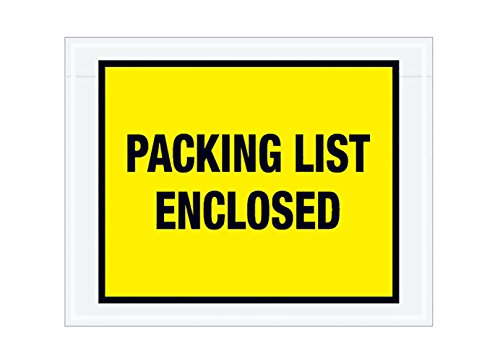 RetailSource E050401YF1000 Packing List Enclosed (Full Face) Envelopes, 5.5