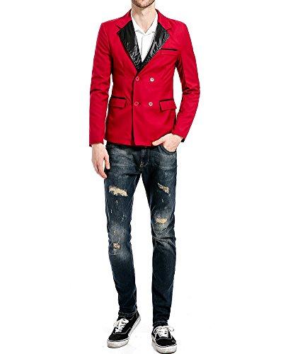 Jacket Da Top Tempo Rouge Senza Blazer Coat Outwear Uomo Giacca YdqF1Y