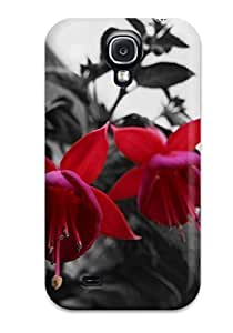 Cute High Quality For SamSung Galaxy S4 Phone Case Cover Pretty Three Red Flowers Case