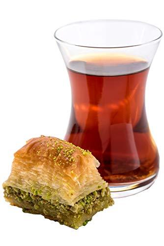 Topkapi Juego de te turco, vaso de te, taza de te, Ajda, 6 vasos