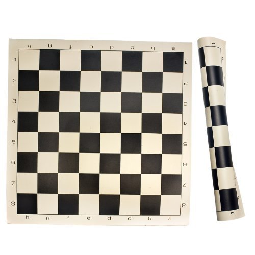 (Roll Up Chess Mat Board Game, Black, One Size)