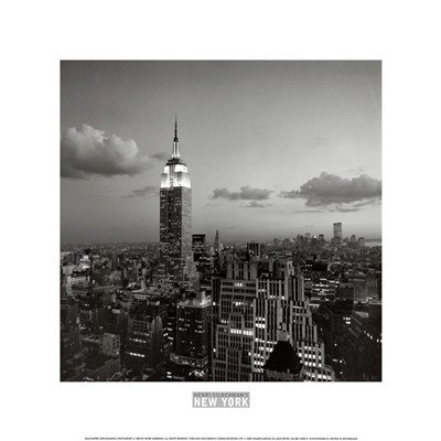 (Empire State Building New York by Henri Silberman - 12x12 Inches - Art Print Poster )