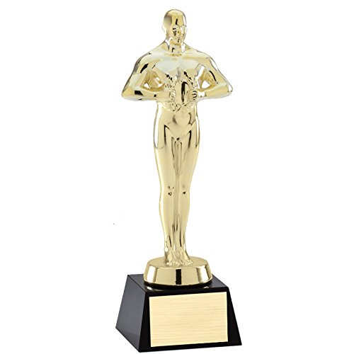 Awards and Gifts R Us Customizable Bright Gold Polished Metal Achievement Trophy Figure,includes Personalization (Trophy Gold Figure)
