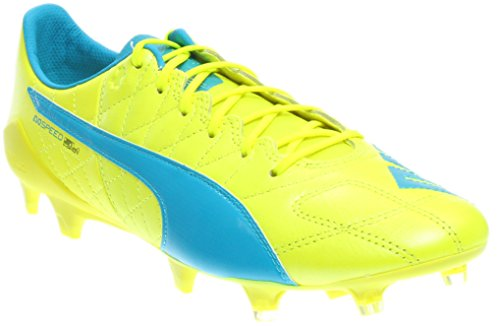 Puma Mens Evospeed Sl Leather Fg Firm Ground Soccer Cleats Yellow/White 9.5