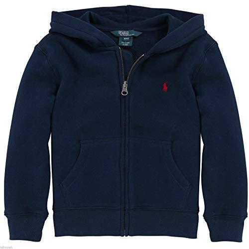 RALPH LAUREN Polo Boys Classic Blue Hoodie Full Zip Jacket (4 4T)