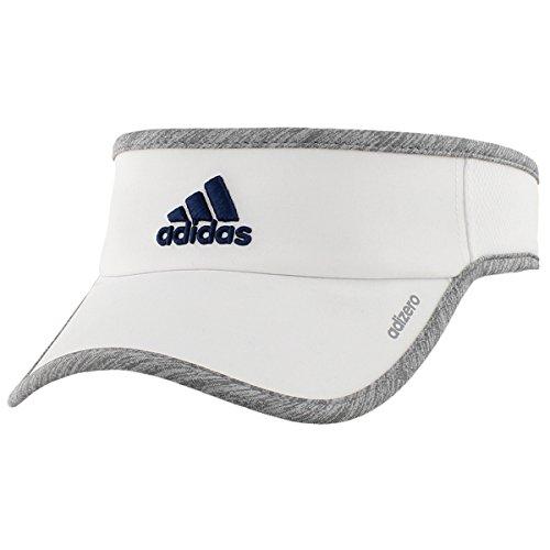 adidas Men's Adizero II Visor, One Size, White/Light Grey Heather/Mystery Blue