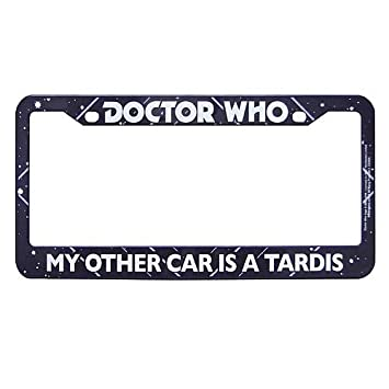 doctor who my other car is a tardis license plate frame - Doctor Who License Plate Frame