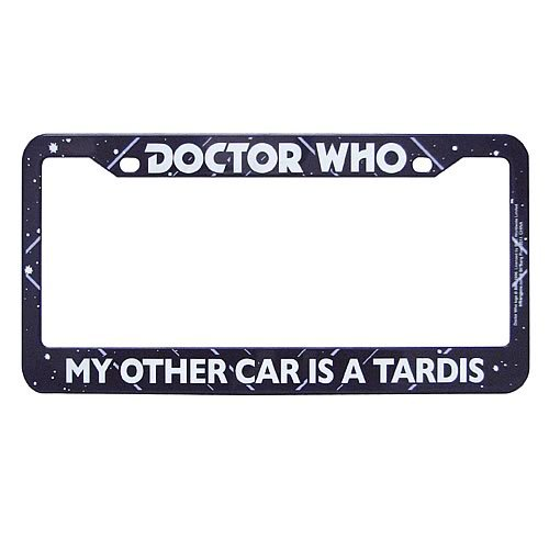 Doctor Who My Other Car is a Tardis License Plate Frame Other Manufacturer 12802 BBP12802A