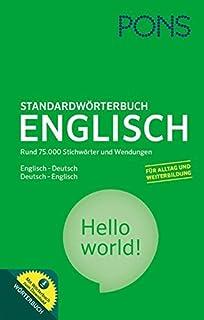 PONS Standardwörterbuch Englisch - Deutsch   Deutsch - Englisch  Mit 75.000  Stichwörtern   Wendungen und 06a8fc2709