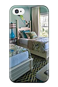 Hot Blue Kids Room With Twin Beds 038 Hanging Skate Boards First Grade Tpu Phone Case For Iphone 4/4s Case Cover
