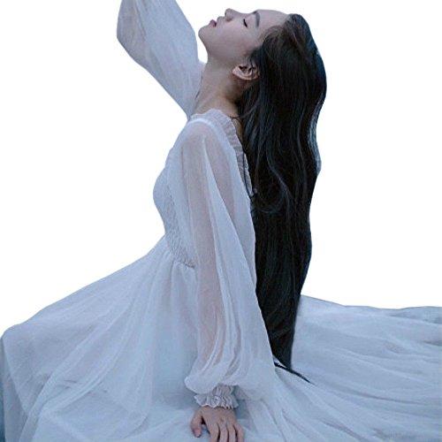 YOUMU Women Victorian Gothic Sweet Dress Lolita Vintage Elegant Fairy Chiffon Princess