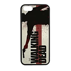 iPhone 5 Case, [Walking Dead] iPhone 5,5s Case Custom Durable Case Cover for iPhone5 TPU case(Laser Technology)