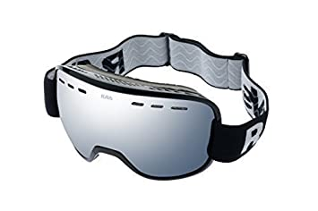 Ravs Schutzbrille Skibrille Snowboardbrille Ski goggles Silber Scheibe Antifog KLrqD