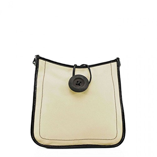 Unbranded, Borsa a tracolla donna M Beige