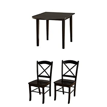 Admirable Amazon Com Tms 3 Piece Tiffany Dining Room Drop Leaf Table Cjindustries Chair Design For Home Cjindustriesco