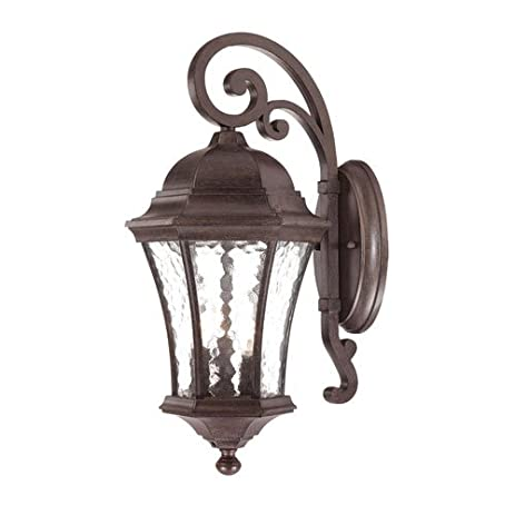 acclaim 3612bc waverly collection 3light wall mount outdoor light fixture black coral