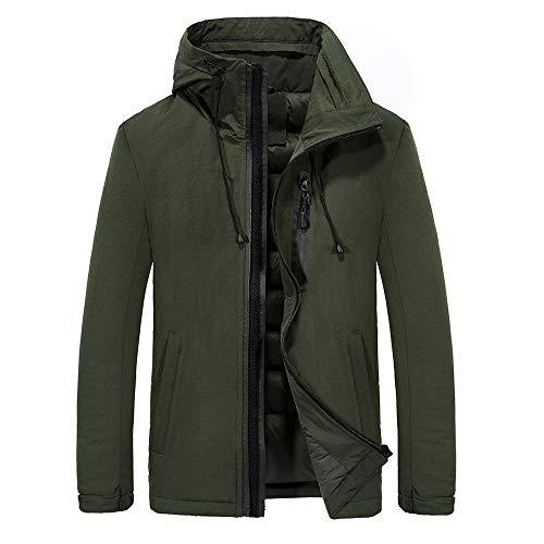 Pervobs Men's Lined Warm Zipper Up Pocket Outerwear