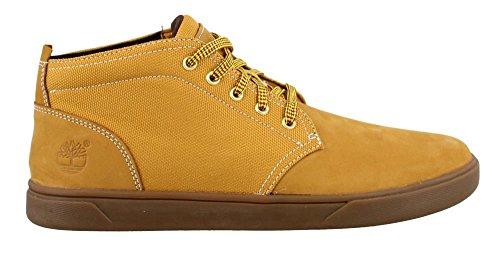 Timberland Men's Groveton Leather Fabric Chukka Boot, Wheat Nubuck, 8 M US