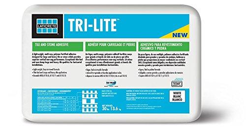 Laticrete TRI-LITE Thin-Set Mortar 30 lb bag White