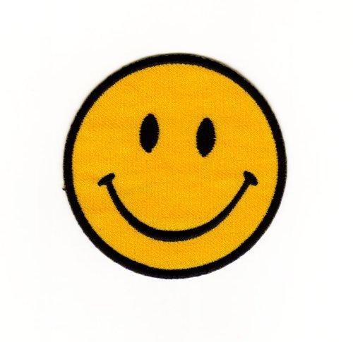 Aufnäher Bügelbild Aufbügler Iron on Patches Applikation Smiley Gesicht Smilies Kinder Kleidung