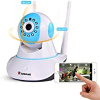 Zgwang 2-Way Audio WiFi Wireless Surveillance IP Security Camera HD 1280x720p Night Vision,Pan/Tilt