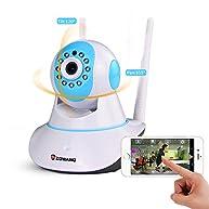 Zgwang 2-Way Audio WiFi Wireless Surveillance IP Security Camera HD 1280x720p Night Vision,Pan/Tilt