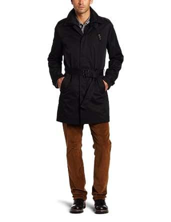 Calvin Klein Men's Trench Coat, Black, X-Large