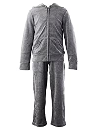 Banner Bonnie Girls' Velour Long Zip Hoodie Tracksuit Sweatshirt Sweatpant Sets