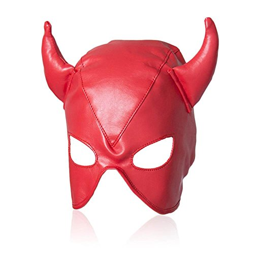 Leather Full Face Gimp Mask Unisex Hood Costume Accessory Halloween Spooky Eyemasks Disguises for Masquerade, Cosy-L for $<!--$24.00-->