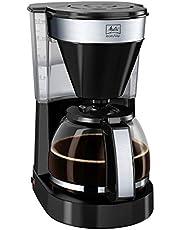 Melitta Easy, cam sürahili kahve makinesi, kompakt tasarım, siyah