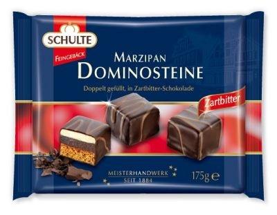 Schulte Marzipan Dominos Dark Chocolate 175g