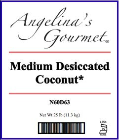 Medium Dessiccated Coconut, 25 Lb Bag by Angelina's Gourmet (Image #1)