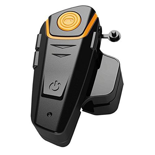 Helmet Bluetooth Headset,BT-S2 Motorcycle Intercom Communication Headphone Waterproof Interphone Walkie-Talkie for 2 or 3 Riders(Pack 1) ()