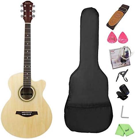 軽やかで安定したギター スプルースSabiliギターをプレイする初心者のための楽器 持ち運びや収納に便利です (色 : Natural, Size : 41 inches)