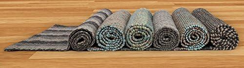 Fab Habitat Sustainable Jute/Wool Area Rug/Floor Mat