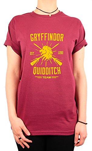 "TheProudLondon Gryffindor Quidditch Team"" Unisex T-shirt (Small, Maroon)"