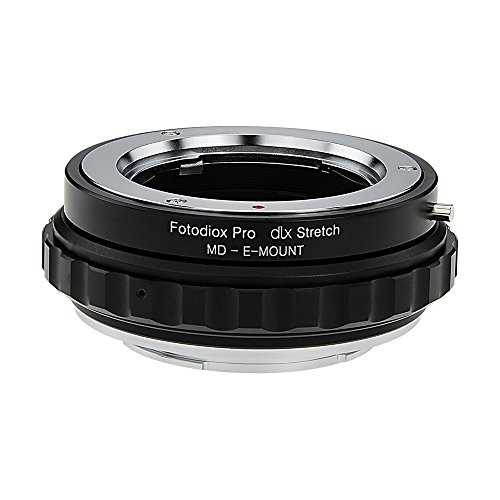 Fotodiox DLX Stretch Lens Mount Adapter - Minolta Rokkor (SR/MD/MC) SLR Lens to Sony Alpha E-Mount Mirrorless Camera Body with Macro Focusing Helicoid and Magnetic Drop-in Filters