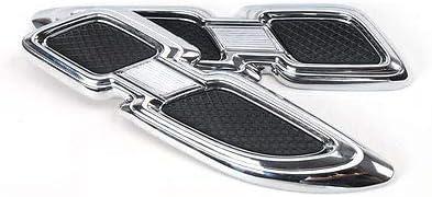 FidgetFidget Air Flow Intake Vent Hood Trim Pair Chrome Decor Car Side Body Fender for Jeep