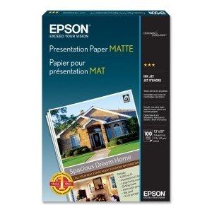 Sheet 13x19 A3 Matte Photo (Epson Presentation paper. 100 SHEET 13X19 A3 MATTE PHOTO QUALITY 720DPI INKJET PAPER PAPER. Super B - 13' x 19' - 27lb - Matte - 90 GE/101 ISO (D65) Brightness - 100 / Pack - Bright White)