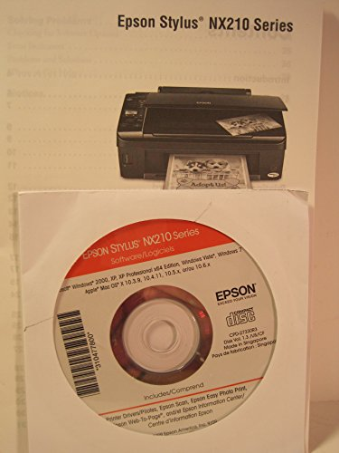 Epson Stylus Manual (Reference Manual, Quick Start Fold-Out and CD-Rom for the Epson Stylus NX210 Printer)