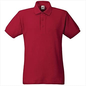 Fruit of the Loom -Camiseta de tipo polo rojo rojo Talla:extra ...