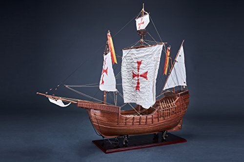SANTAMARIA,Wooden ancient sailing ship model, handcraft, collection, Exhibition usage(B)纯手工收藏桑塔玛利亚号木质仿真古帆船船模摆件展览级(B) Wooden Model Company