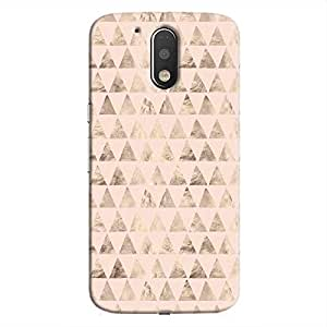 Cover It Up - Brown Light Pink Triangle Tile Moto G4/G4 Plus Hard Case