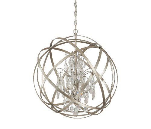 Capital Lighting 4234Wg Cr Axis 4 Light Pendant  Winter Gold Finish With Clear Crystal Accents