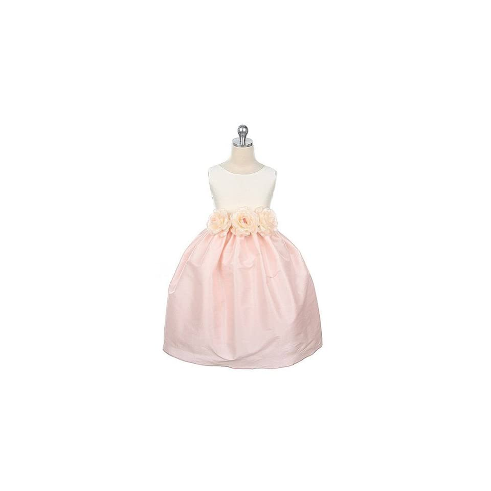 Sweet Kids Girls Ivory Pink Flower Girl Dress 6 12M Special Occasion Dresses Clothing